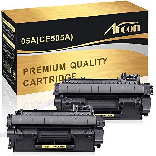 Arcon 2-Pack Toner Kompatibel für HP 05A CE505A CE505X 05X Toner für HP Laserjet P2055DN P2055D P2055 P2035 P2035N P2050 HP 2055 DN Laser Toner Druckerpatronen Schwarz