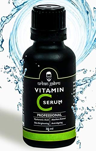 UrbanGabru Vitamin C Serum For Face With Hyaluronic Acid, Aloe Vera Extract and Grape Seed Extract 30 Ml, 30 ml