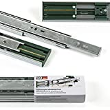 2 pares (4 piezas) Guía para cajón de extracción total y SoftClosing Alto 45 mm / L 550 mm Carril de cajón