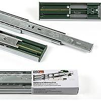 2 Paia (4 Pezzi) SO-TECH® Guide a Uscita Totale con SoftClosing A 45 / L 500 mm Guide per Cassetto Guide