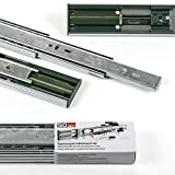 2 Paia (4 Pezzi) SO-TECH® Guide a Uscita Totale con SoftClosing A 45 / L 400 mm Guide per Cassetto Guide Telescopiche