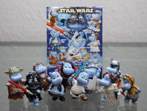 Das Hipperium spielt verrückt - 2002 - Star Wars - Komplettsatz 10 Figuren - Ferrero