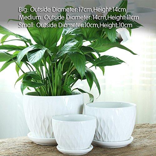 Dekorative Design Keramikplatten Pflanze Blume Pflanzer Töpfe,Diese Glasur Exquisit Blume Töpfe...
