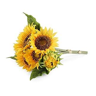 Louis Jardín Flores artificiales girasol, girasol, 1 bouquet