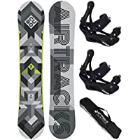 AIRTRACKS SNOWBOARD SET /PACK/ PLANCHE CUBO EXTRA WIDE+FIXATIONS SAVAGE+SB SAC/NEUF