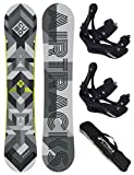 AIRTRACKS SNOWBOARD SET - BOARD CUBO WIDE 161 - SOFTBINDUNG SAVAGE L - SB BAG