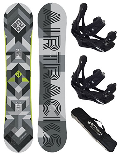Airtracks Snowboard Set / CUBO Wide + Snowboard Bindung Savage + Snowboard Bag / 159 161 165 168 171 cm