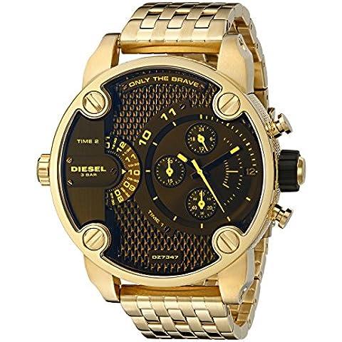 Diesel Men's 52mm Chronograph Gold Steel Bracelet & Case Quartz Watch dz7347