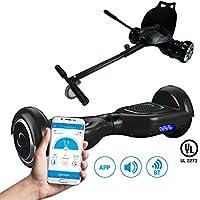 SmartGyro X2 UL + GO KART PACK BLACK- Patín eléctrico X2 UL (Hoverboard 6'5 con Ruedas Run-Flat) y Accesorio Go Kart Pro (Sillin adaptable), color negro