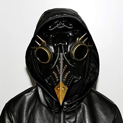 HWQ Halloween Steampunk Pest Schnabel Doktor Maske Cosplay Bar Party Requisiten Geschenk