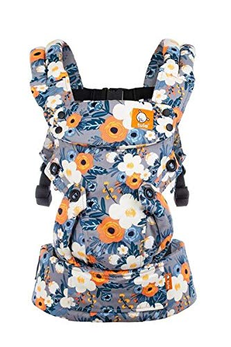 Baby Tula Explore Baby Carrier 3.2 - 20.4 kg, Adjustable Newborn to Toddler Carrier, Multiple Ergonomic Positions, Front and Back Carry, Easy-to-Use, Lightweight - French Marigold, Blue-Gray Floral Tula EVERY CARRY POSITION YOUR BABY WILL NEED, INCLUDING OUTWARD FACING: Multiple positions to carry baby including front facing out*, facing in, and back carry. Each position provides a natural, ergonomic position best for comfortable carrying that promotes healthy hip and spine development for baby. INNOVATIVE BODY PANEL WITH AN EASY-TO-ADJUST DESIGN: Adjusts in three width settings to find a perfect fit as baby grows from newborn to early toddlerhood. PADDED, ADJUSTABLE NECK SUPPORT PILLOW: Can be used in multiple positions to provide head and neck support for newborns and sleeping babies. 2