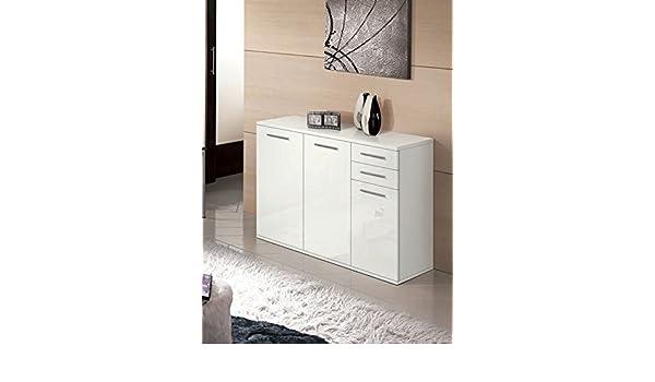 Valentini Mobile contenitore 2 ante Nettuno cm L80 - Bianco Laccato