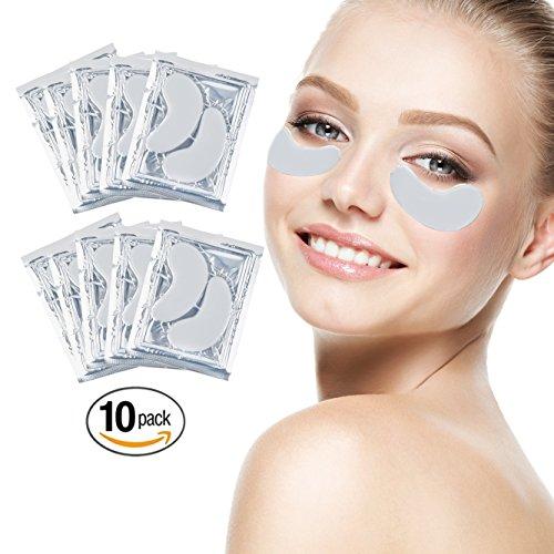 10 Paare Milch Weiße Kollagen Gel Kristall Masken Augen Pads Anti Aging für Falten