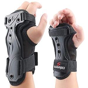 ANSUG Handgelenkschutz, Handprotektoren Starke Unterstützung Guards Einstellbare Doppelschiene Verlängertes Armband für…