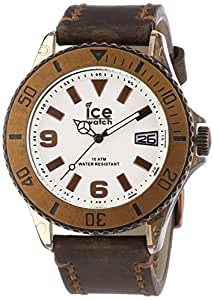 ICE-Watch - Montre Mixte - Quartz Analogique - Ice-Vintage - Brown - Big - Cadran Noir - Bracelet Cuir Marron - VT.BN.B.L.13