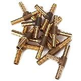 DN Oro T Forma 3 Formas de latón Conector adaptador 6mm Diamater Finalizar Maching (paquete de 10)