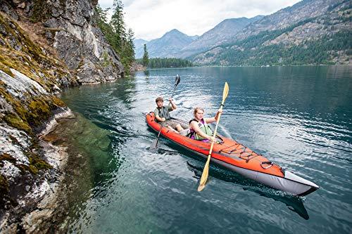 ADVANCED ELEMENTS Watersport AdvancedFrame Cabrio Elite Aufblasbares Kajak, Rot/Grau, 460 cm