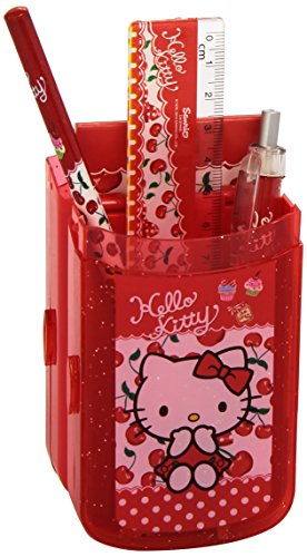 Hello Kitty Cubilete/Plumier con Accesorios, 0 (Fantasy Store HK3418/AS7301)
