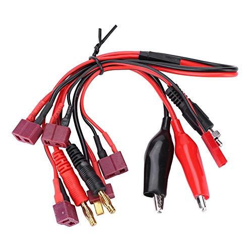 Dilwe Set di Cavi a Spina T, Set di Cavi connettori RC Glow / Clip / JST / Futaba / Banana Connettore per Caricabatterie IMAX B6 B6AC R