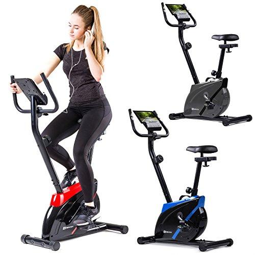 Hop-Sport Heimtrainer ONYX Fitnessgerät mit Pulssensoren und Computer Grau
