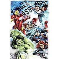 Marvel Avengers Assemble Polar Fleece-decke, Polyester, mehrfarbig, Single