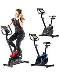 Hop-Sport Heimtrainer ONYX Fitnessgerät mit Pulssensoren und Computer 8 Widerstandsstufen Schwungmasse 7 kg belastbar bis 120 kg Tablet-Halterung