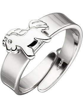 JOBO Kinder Ring Pferd Pony 925 Sterling Silber Silberring Kinderring verstellbar
