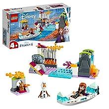 LEGO Frozen Spedizione sulla Canoa di Anna 41165, Set di Costruzioni per Ricreare le Atmosfere Incantate del Film di Disney e Avventurarti insieme ad Olaf ed Anna in Canoa, per Bambini +4