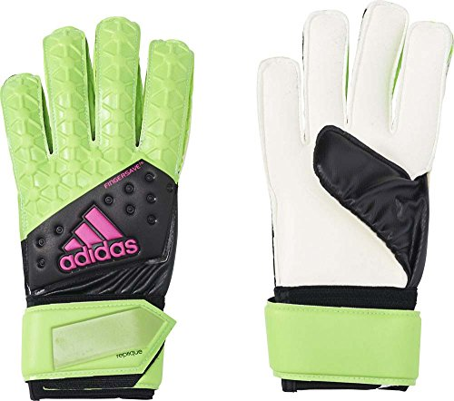 adidas Herren Torwarthandschuhe Ace Fingersave Replique, Solar Green/Core Black/Shock Pink S16/White, 9.5, AH7815