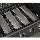 TAINO® PRO Gasgrill BBQ Grill-Wagen 4 Edelstahl-Brenner TÜV Gasbrenner Farbe Schwarz (Gasgrill 4+0) - 4