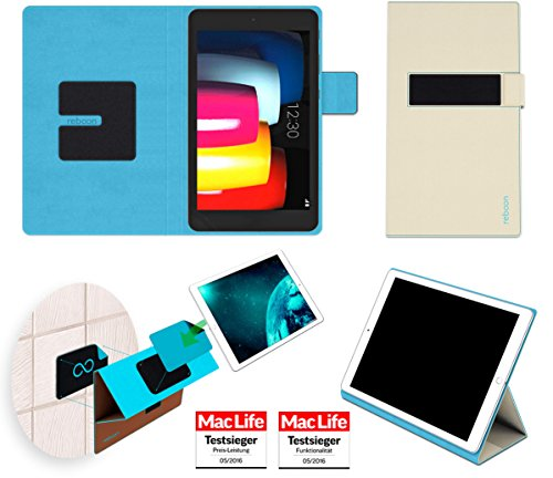 reboon LG G Pad IV 8.0 FHD Hülle Tasche Cover Case Bumper | in Beige | Testsieger