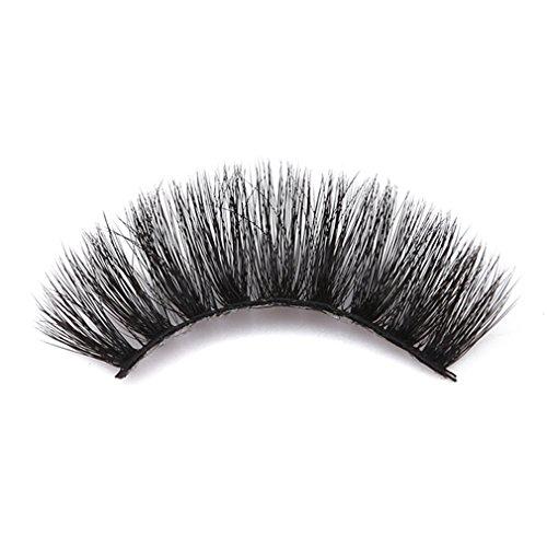 SUNSKYOO 3D Kunstfell Nerz gefälschte Wimpern natürliche Lange bilden chaotisch Flirty gefälschte Wimpern lockige leichte falsche Wimpern für Frauen, schwarz (# 62)