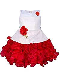 My Lil Princess Baby Girls Birthday Frock Dress Red Scuba_1-6 Years