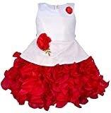 My Lil Princess Baby Girls Birthday Party wear Frock Dress_ New Red Scuba_1-1.5 Years