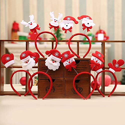 Decorative buckets: Santa Claus Cap : Santa Claus hat : Christmas Decorations : Set of 3 Christmas SOW Man Head Band : Christmas Party Decorations : Christmas Gifts: Santa Claus Costume