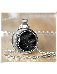 Luna Collar–media luna luna collar collar de espacio