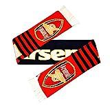 Arsenal FC Unisex Streifen-Schal (One Size) (Rot)