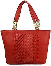 QT Sizzling Maroon 3d Pattern Shoulder Bag For Women
