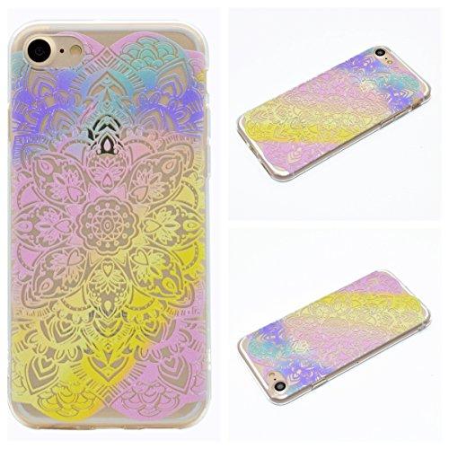 Apple iPhone 7 4.7 Hülle, Voguecase Schutzhülle / Case / Cover / Hülle / TPU Gel Skin (Bunt Herzen 08) + Gratis Universal Eingabestift Bunt Durchstochen 07