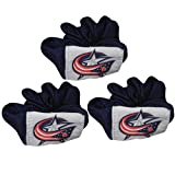 (Pack of 3) NHL Damen / Girls Columbus Blue Jackets Haarschmuck / elastische Haar Scrunchie & Miniaturen - Dunkel Blau