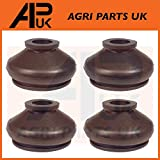 APUK 4 x Tie Track Rod End Rubber Boot Dust Cover Steering Compatible with Massey Ferguson Tractor