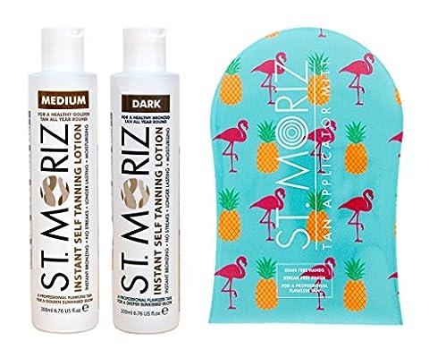 St Moriz Self Tanning Lotion (Med or Dark) & Professional Tanning Mitt (Medium)