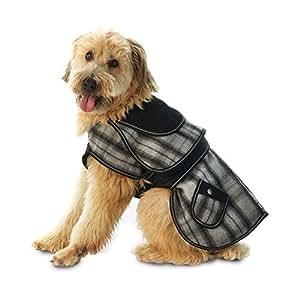 Sherlock Plaid Dog Coat - Gray by Petrageous Designs
