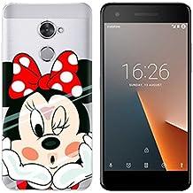 PREVOA Funda para Vodafone Smart V8 - Colorful Silicona TPU Funda Case para Vodafone Smart V8