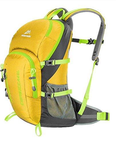 Männliche und weibliche Mehrzweck outdoor wasserdichte Rucksack Tasche Wandern Sport im freien Schultertaschen 40 L Yellow