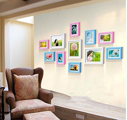 Rahmen Dekorative Massivholz Wand Aufkleber Creative Wohnzimmer Esszimmer Schlafzimmer Kombination (Farbe: D, Größe: 145* 76cm)