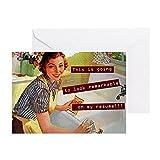 CafePress–Funny Vintage–Grußkarte, Note Karte, Geburtstagskarte, innen blanko, matt