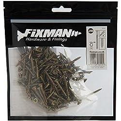 Fixman 585882 Vis à bois aggloméré, Or, 4 x 30 mm