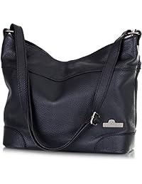 ef241e79afce LIATALIA Womens Genuine Italian Leather Medium Size Hobo Shoulder Handbag -  JANE
