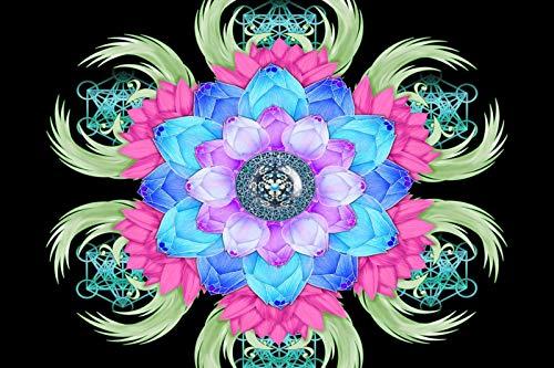 Rompecabezas 1000 Piezas Adultos De Madera Niño Puzzle-Mandala De Loto Morado-Juego Casual De Arte Diy Juguetes Regalo Interesantes Amigo Familiar Adecuado